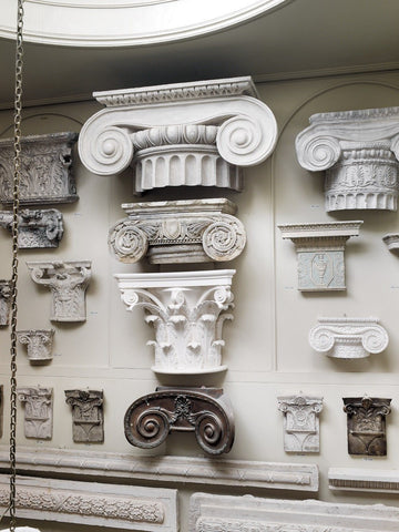 Large Iconic Plaster Capital