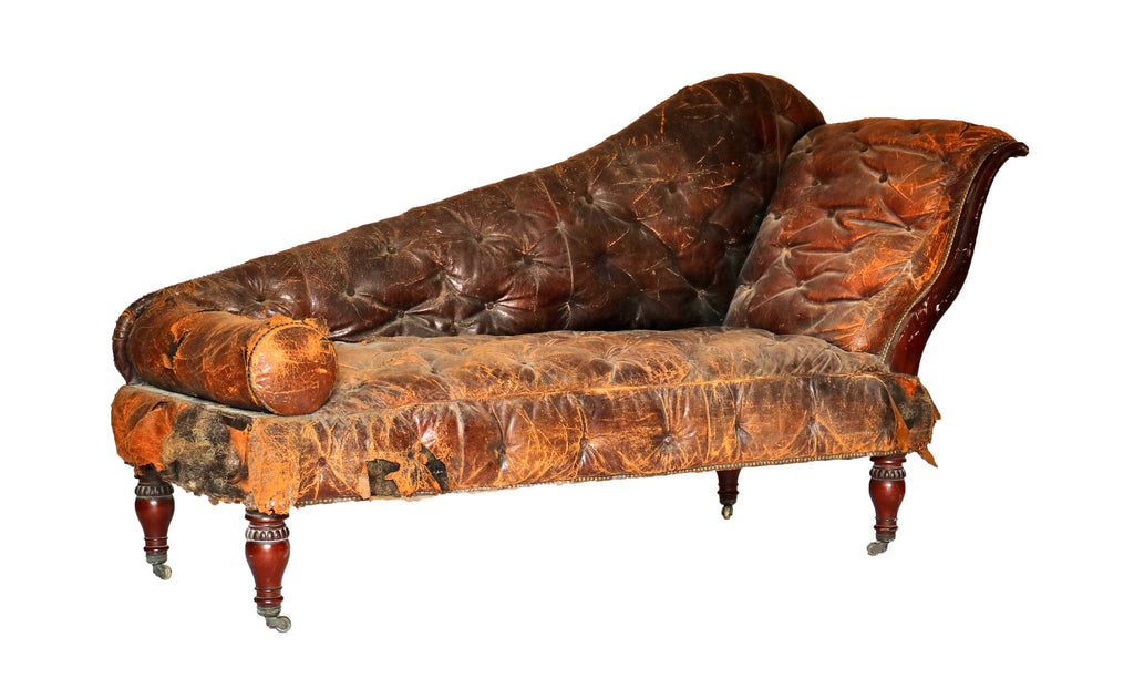 19th Century Leather Chaise - A Modern Grand Tour