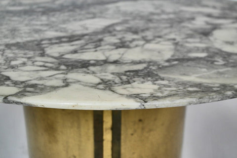 Mid-Century Polished Marble Coffee Table