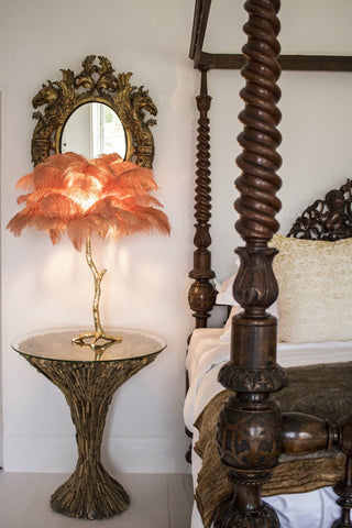 The Mini Feather Lamp Dusty Rose