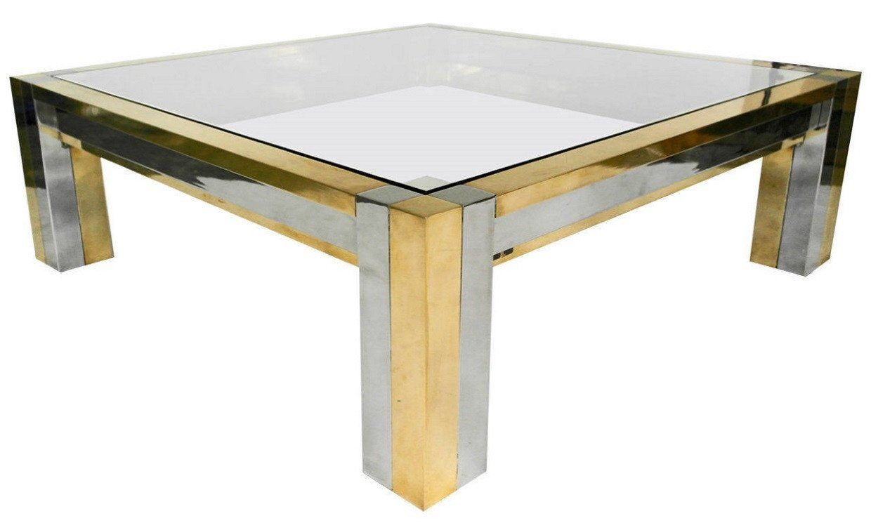 Superb Mid Century Mirror Smoke Glass Coffee Table