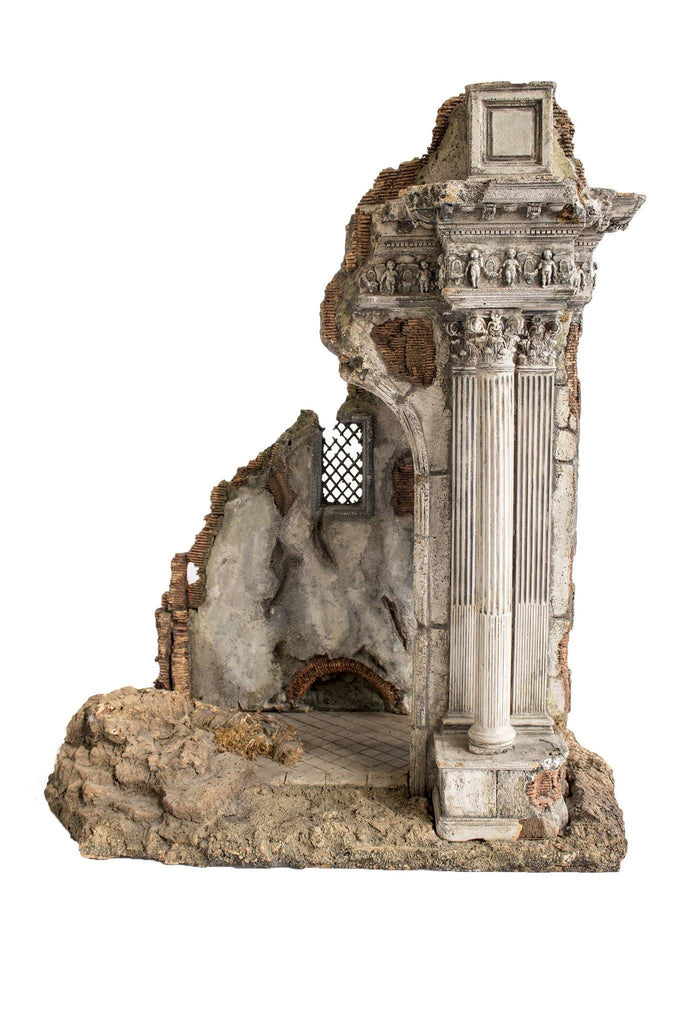 20th Century Italian painted Model Ruin - A Modern Grand Tour