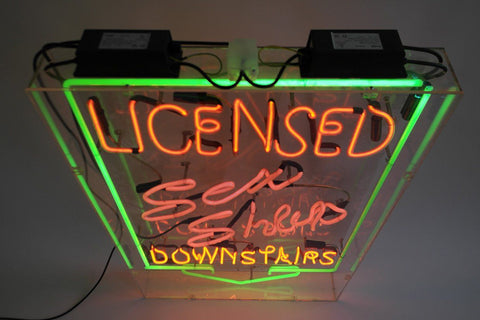 Neon Sex Shop Sign