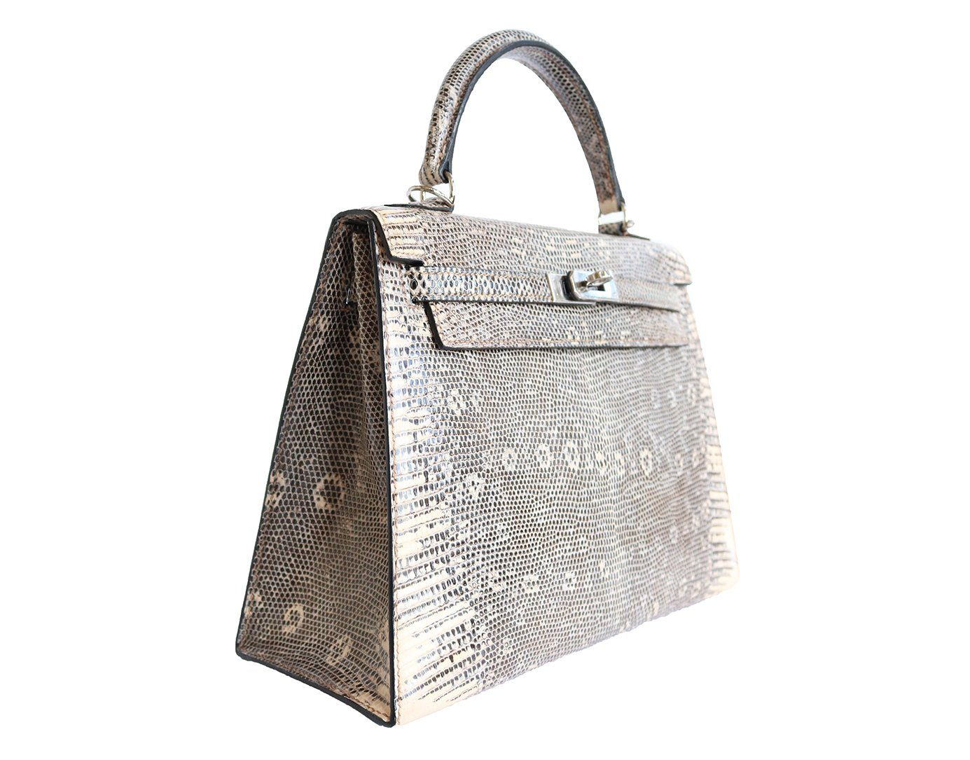 Hermes Lizard Skin Kelly Handbag