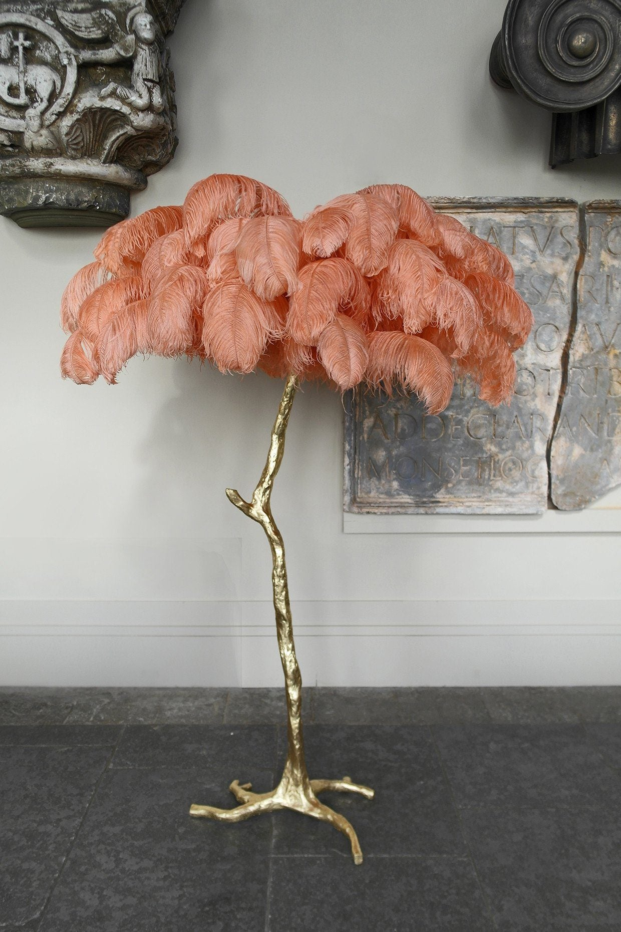 The Ostrich Feather Lamp C