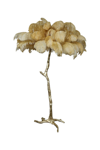 The Ostrich Feather Lamp Ochre