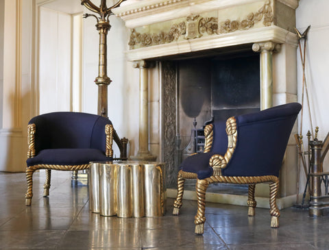 Pair of Rope and Tassel Chairs - A Modern Grand Tour