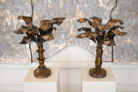 A Near Pair of Brass Table Lamps