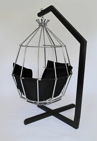 Attractive Retro 1970s Hanging Birdcage Chair By Ib Arberg, Arbre Designs Parrot Chair