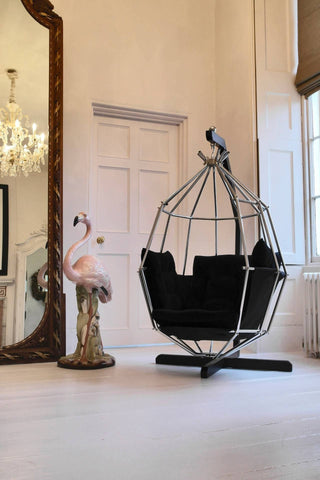 Retro 1970s Hanging Birdcage Chair By Ib Arberg, Arbre Designs Parrot Chair
