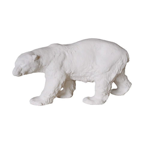 A Stalking Plaster Polar Bear Model - A Modern Grand Tour