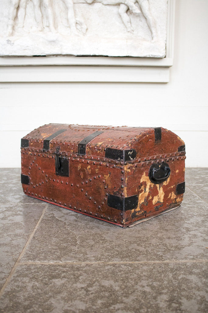 Georgian Red Leather Trunk - A Modern Grand Tour