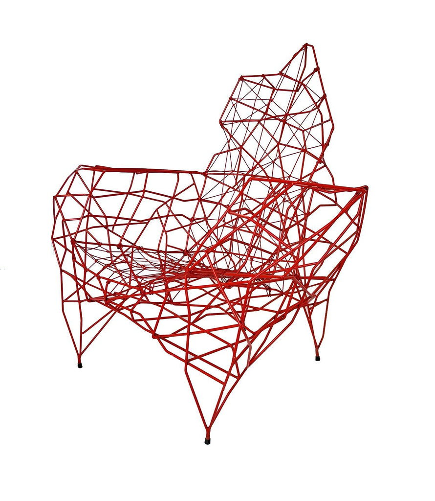 Red 'Pylon' Chair - A Modern Grand Tour