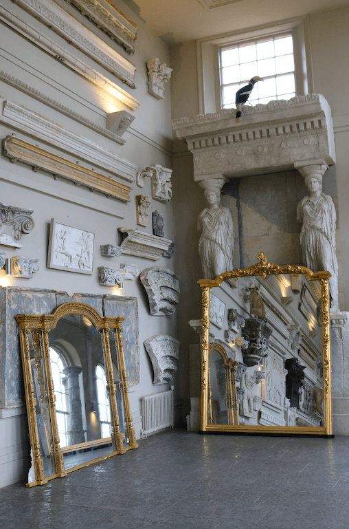 A Large Victorian 1870 carved giltwood overmantel mirror - A Modern Grand Tour