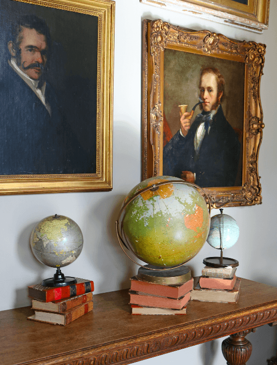 Vintage Geographical Globe on wooden base - A Modern Grand Tour