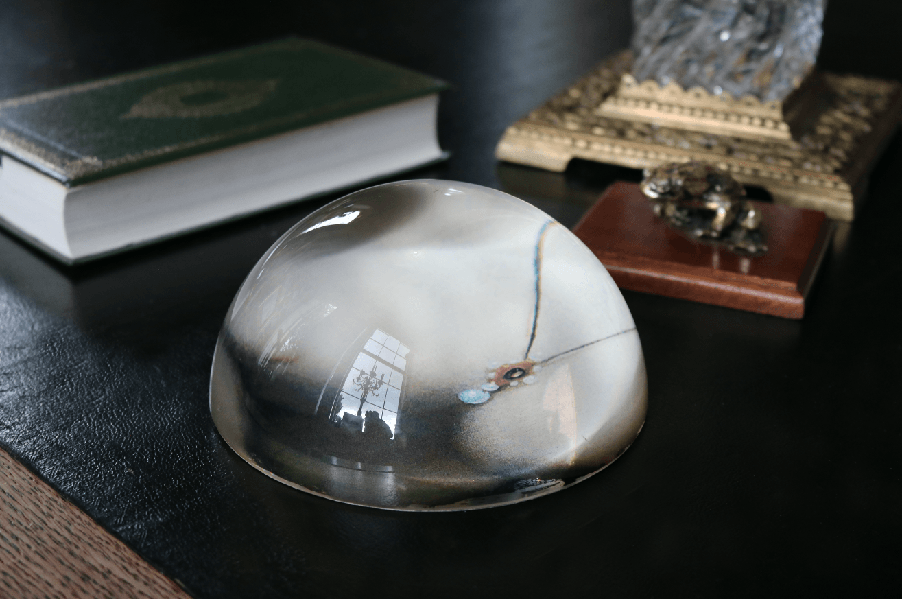 Glass Paper Weight - A Modern Grand Tour