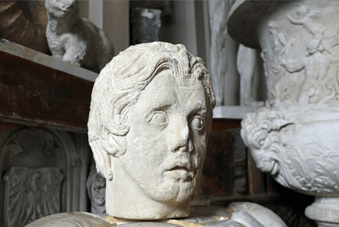 Limestone Head of Alexander Circa 1880 - A Modern Grand Tour