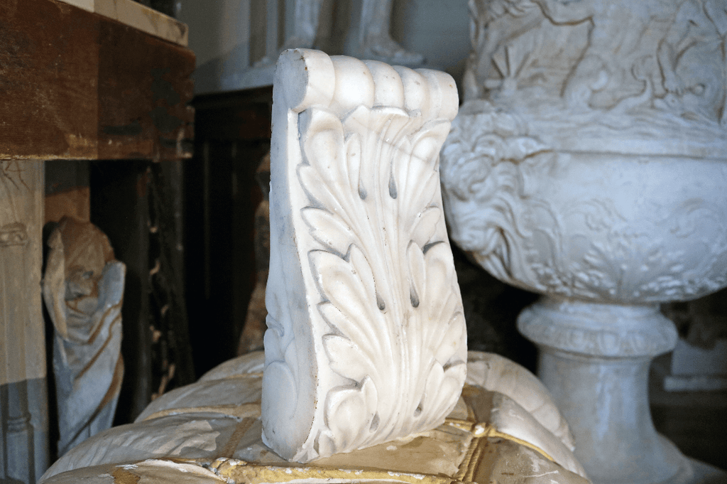 Regency Period Carved Carrera Marble English Fragments - A Modern Grand Tour