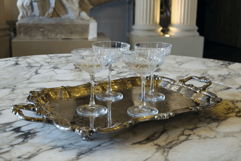 Antique Silver Serving Tray - A Modern Grand Tour