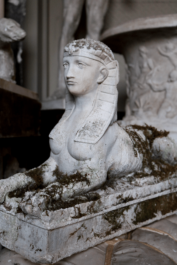 20th Century Plaster Statue of a Sphinx - A Modern Grand Tour