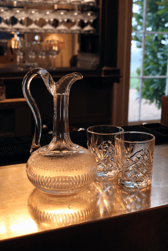 Antique Decanter with Elegant Handle - A Modern Grand Tour