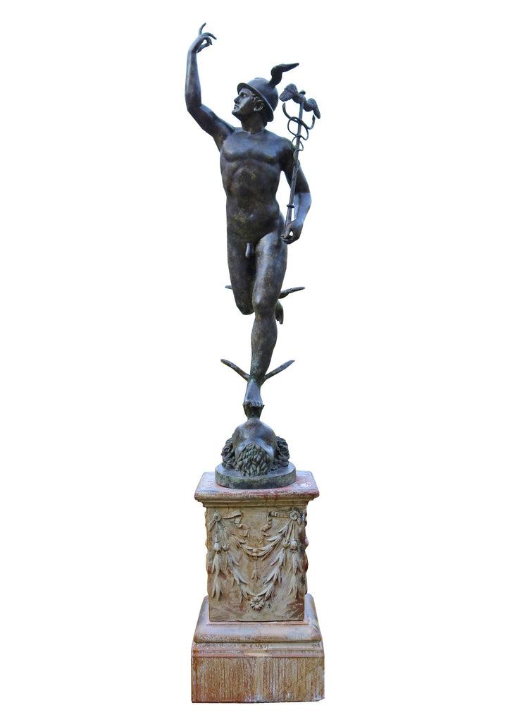 20th Century Bronze Life-size Statue of Roman God Mercury - A Modern Grand Tour