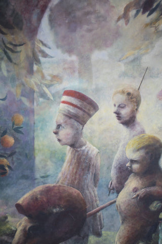 Late 20th Century Surreal Scene - Oil on Canvas