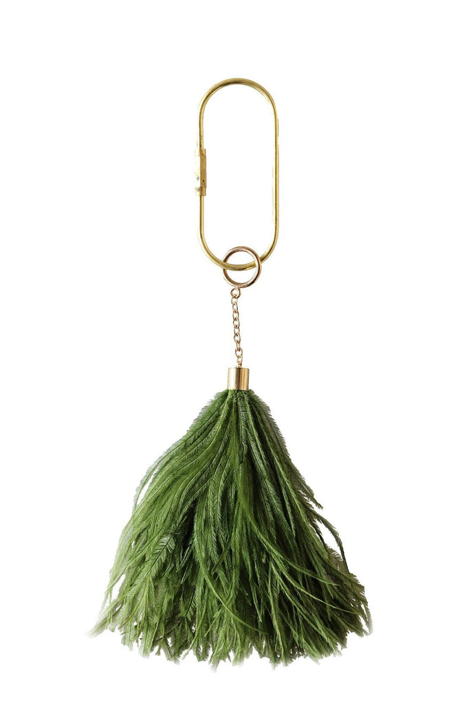 Feather Keyring in Ivy - A Modern Grand Tour