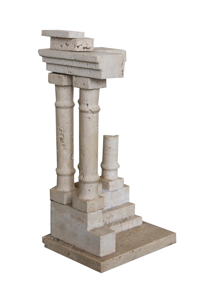 Miniature travertine temple of Vespasian - A Modern Grand Tour