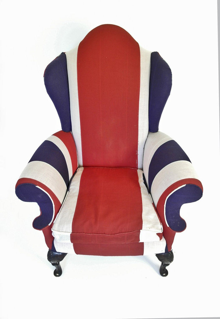 Union Jack Wing Back Chair - A Modern Grand Tour