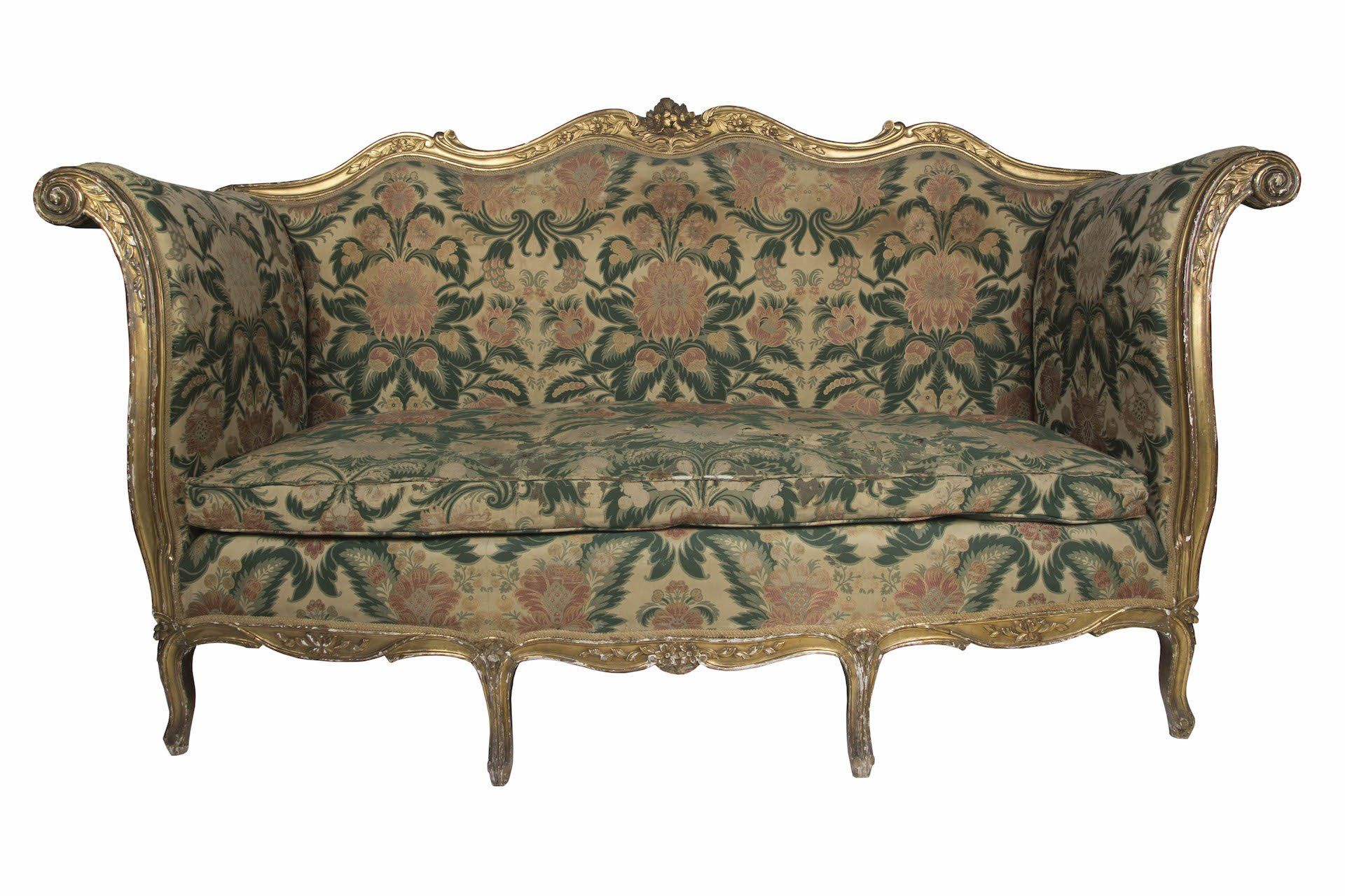 1875 English Giltwood Sofa