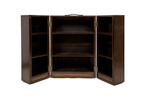 Late 19th Century Mahogany Campaign bookcase