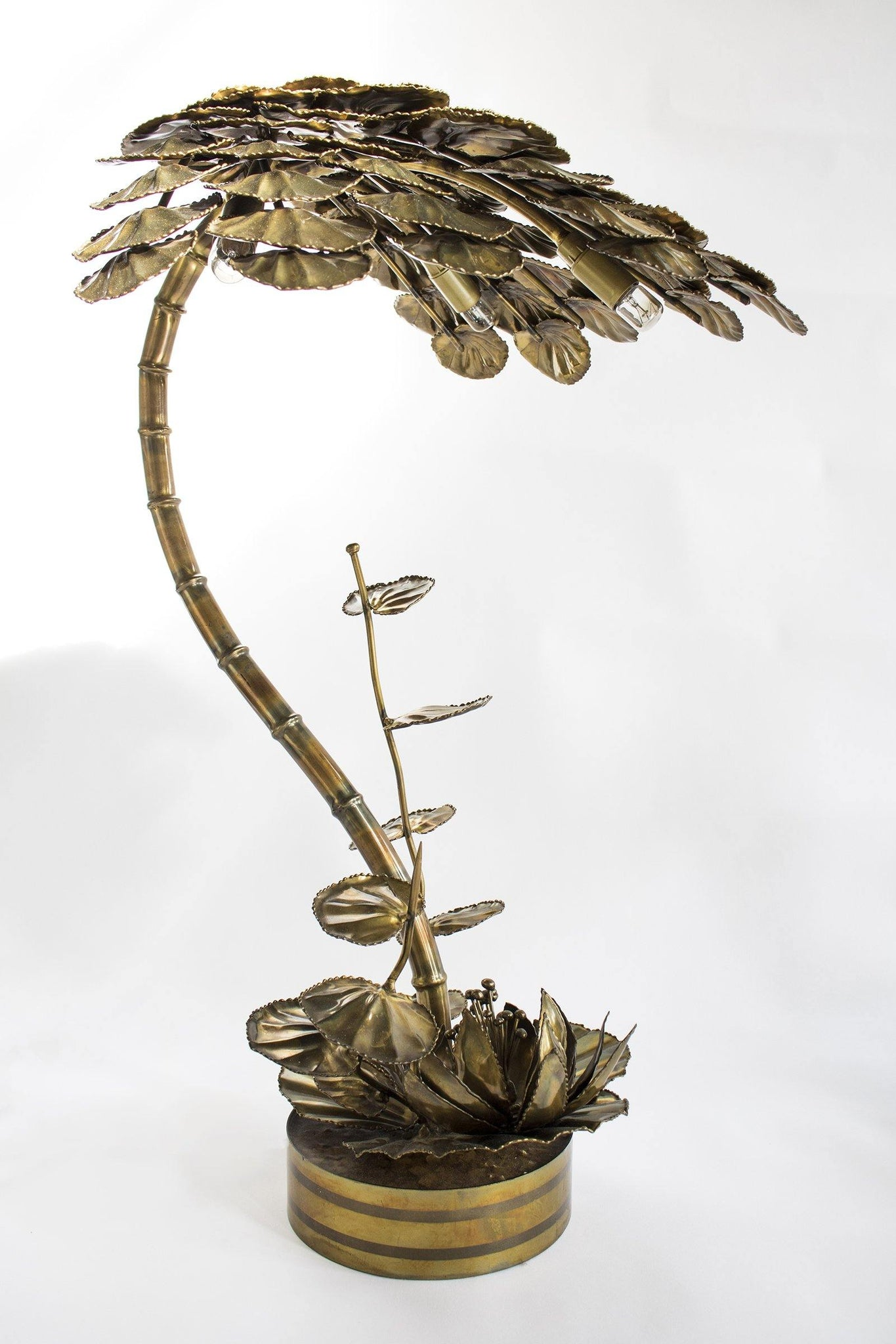 Pair of Brass Waterlilies - A Modern Grand Tour