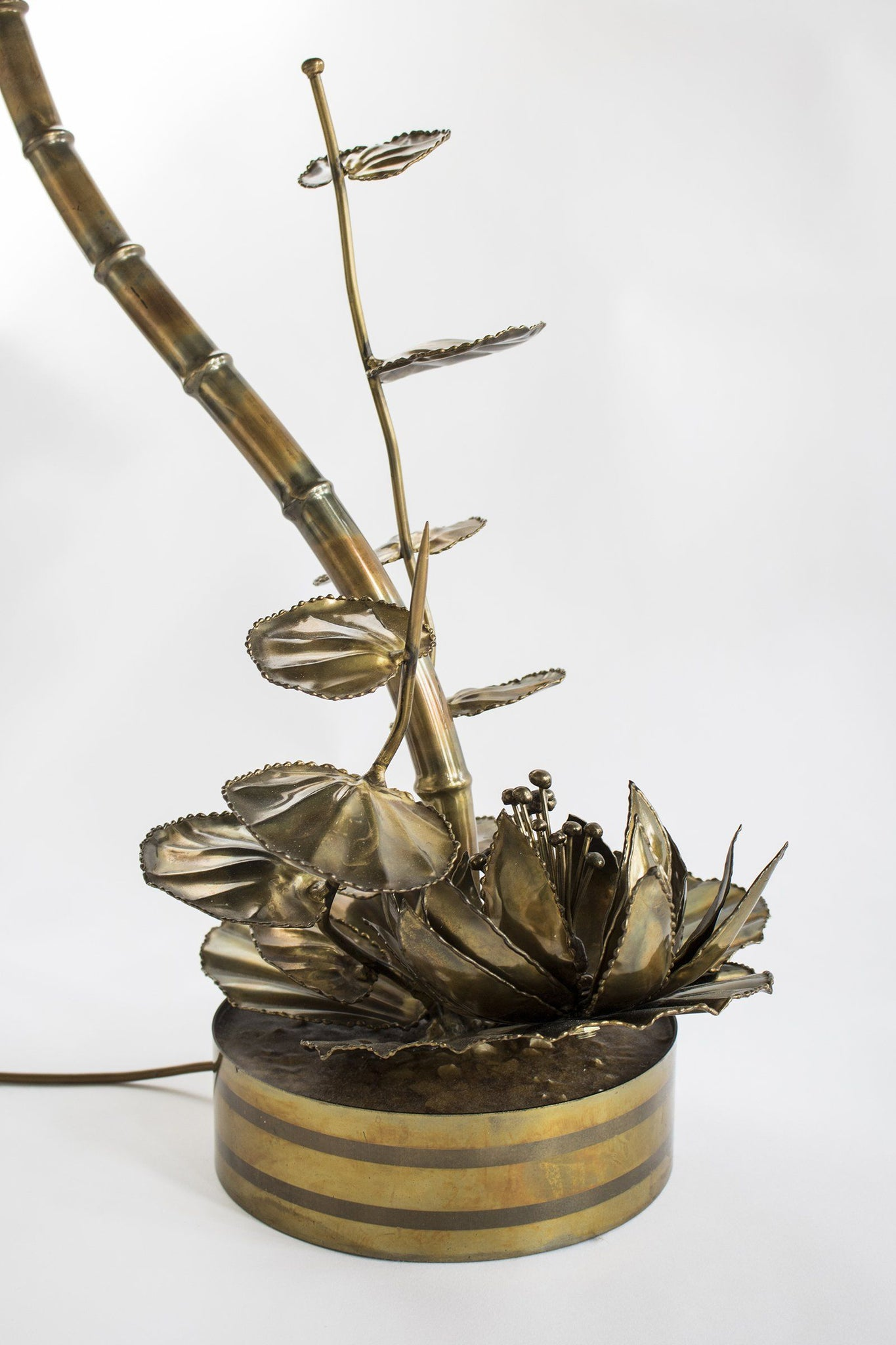 Pair of Brass Waterlilies