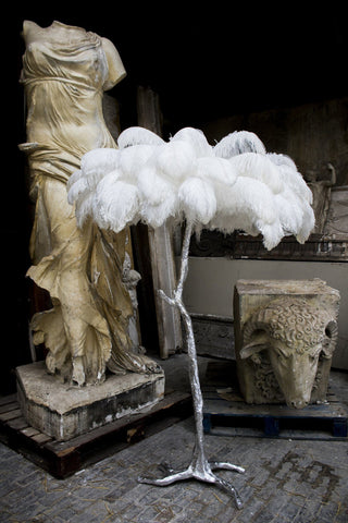 The Ostrich Feather Lamp Silver