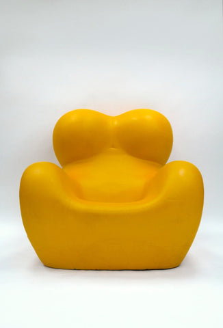 Rare Yellow UP5 6 'Up' Armchair and Ottoman by Gaetano Pesce for B B Italia