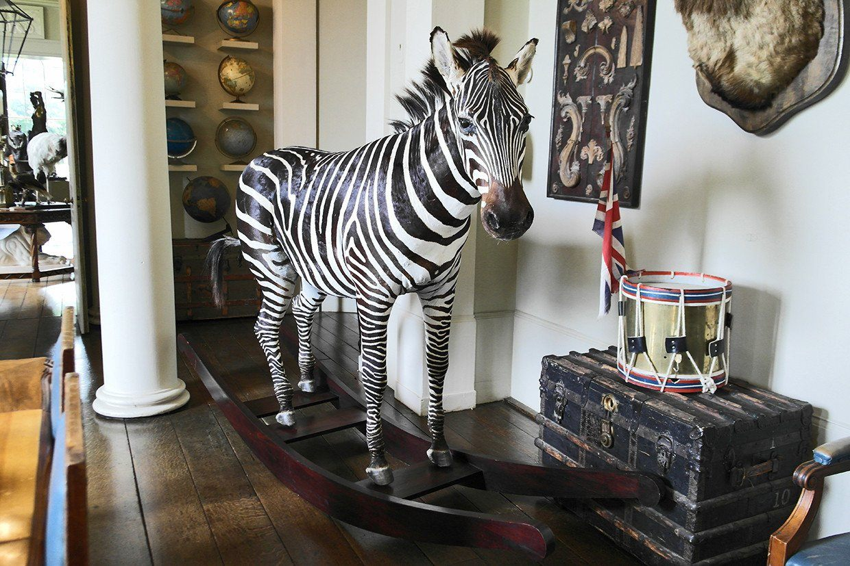 The Aynhoe Rocking Zebra by James Perkins Studio