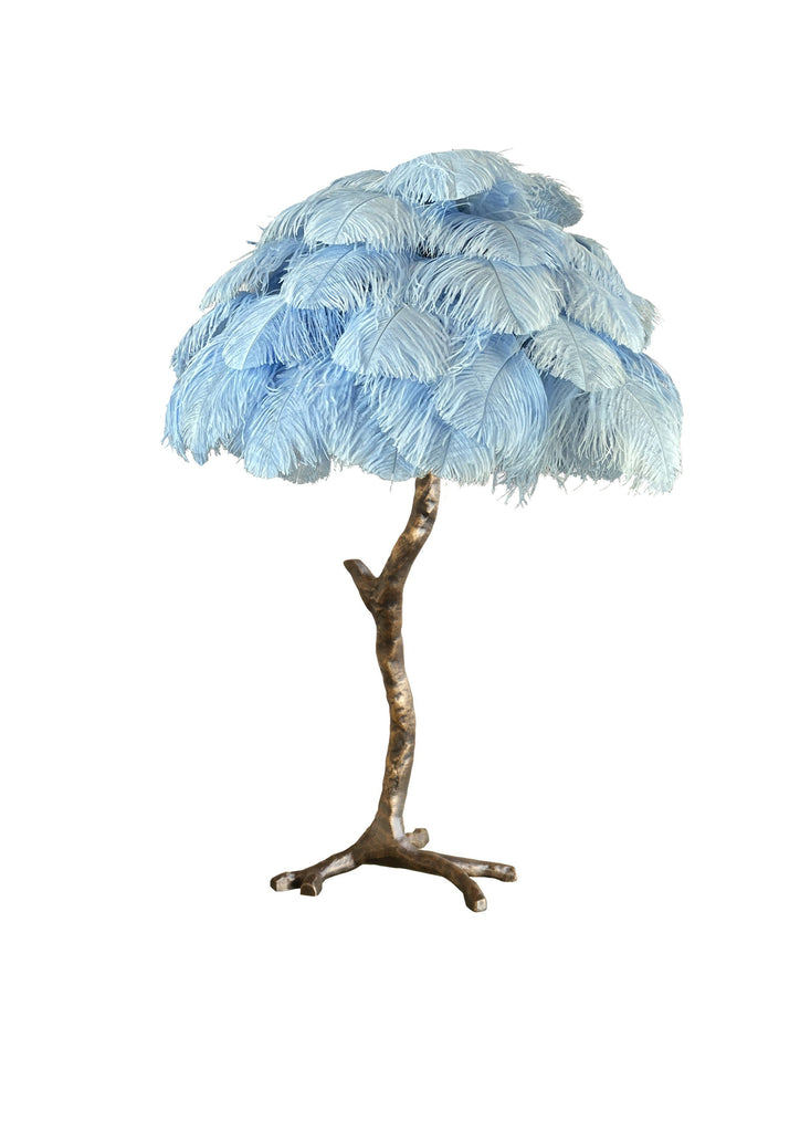 The Feather Metal Table Lamp