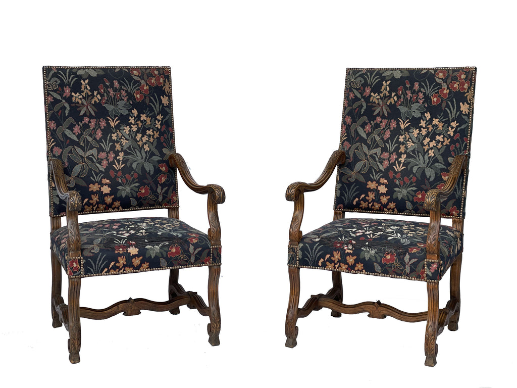 A pair of 19th Century Victorian Armchairs
