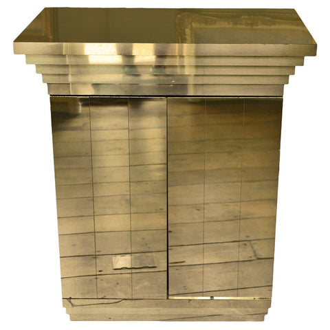Gold Mirrored Dry Bar