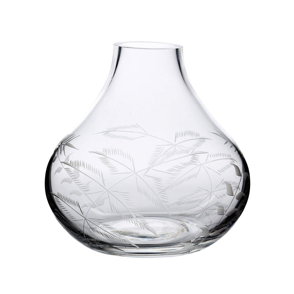 A Small Crystal Vase with fern design - A Modern Grand Tour