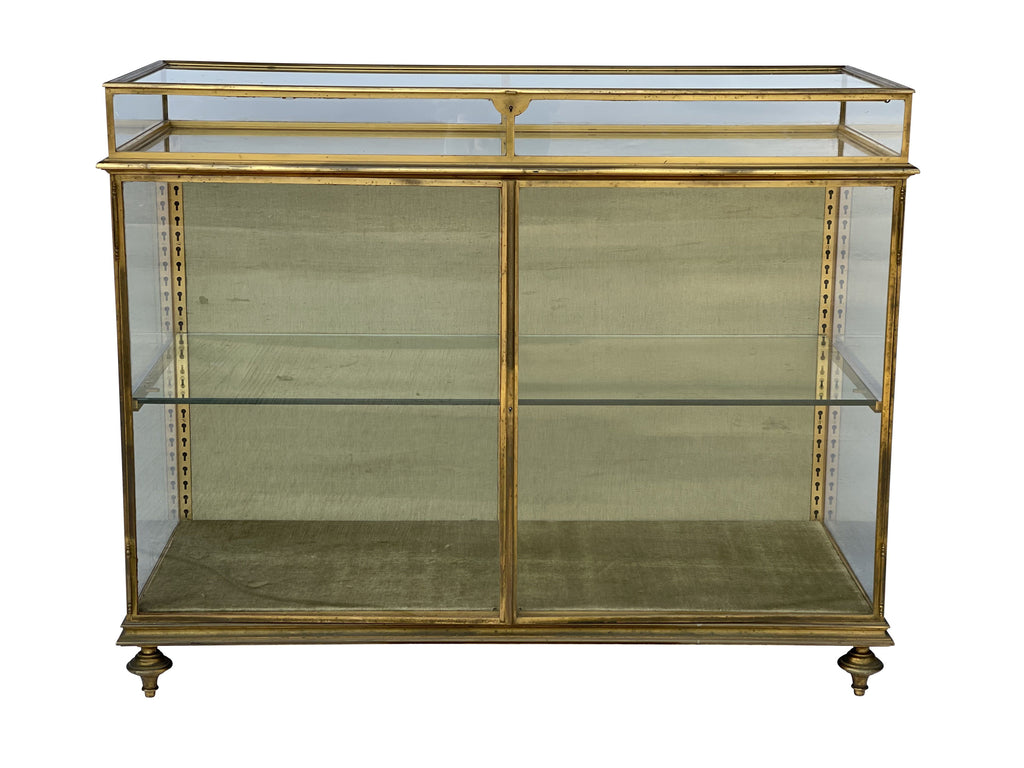 A Vintage Brass and Glass Cabinet