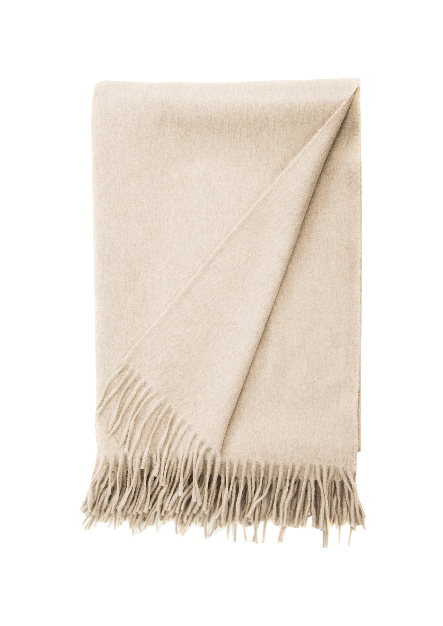 Lambswool Angora Throw Mushroom