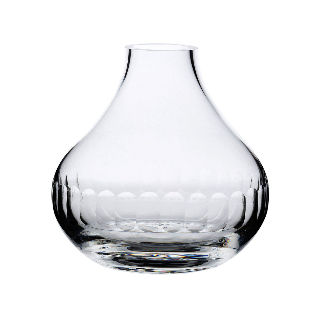 A Small Crystal Vase with lens design - A Modern Grand Tour