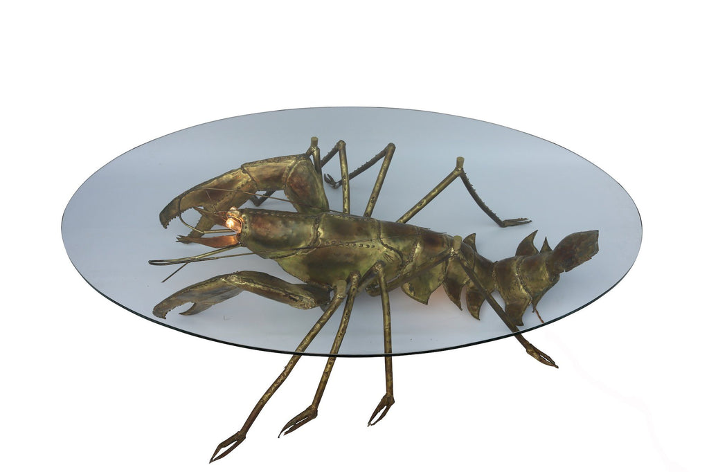Brass Lobster Coffee Table