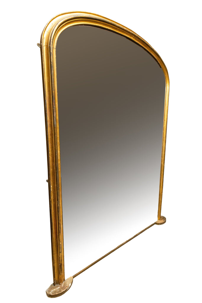 A Large Oval Gilt Wood Mirror