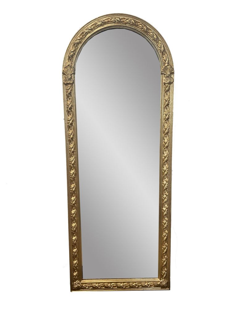 Giltwood Oval Wall Mirror
