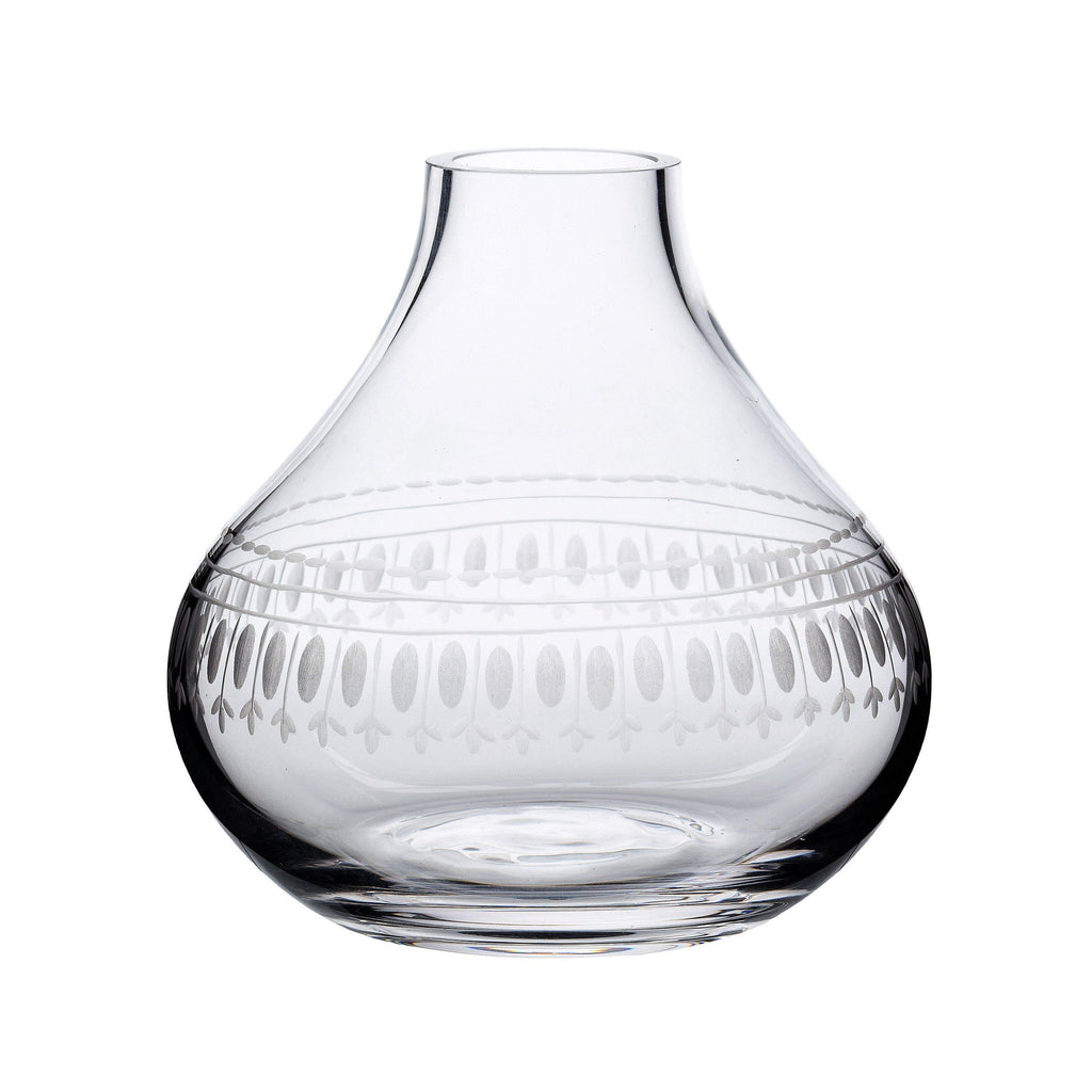 A Small Crystal Vase with oval design - A Modern Grand Tour