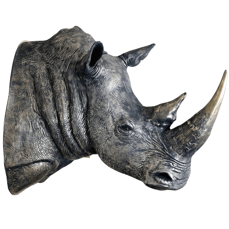 The Golden Rhino by James Perkins Studio