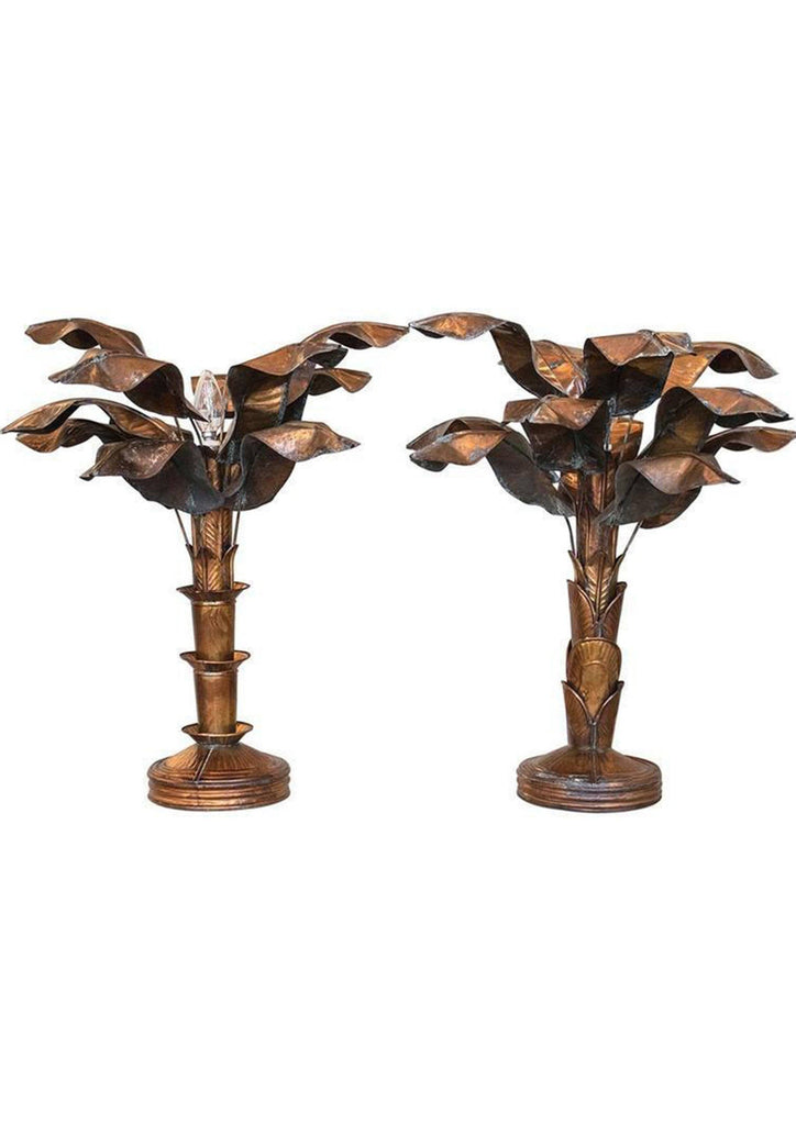 A Near Pair of Brass Table Lamps - A Modern Grand Tour